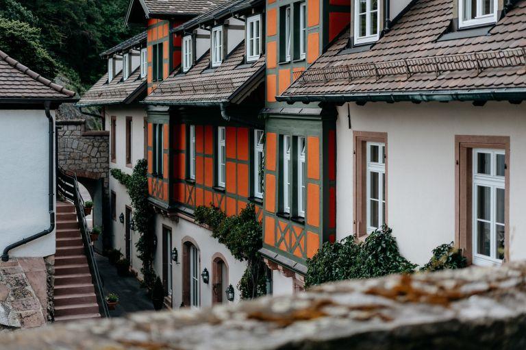 Blick in der Hof des Schloss Eberstein